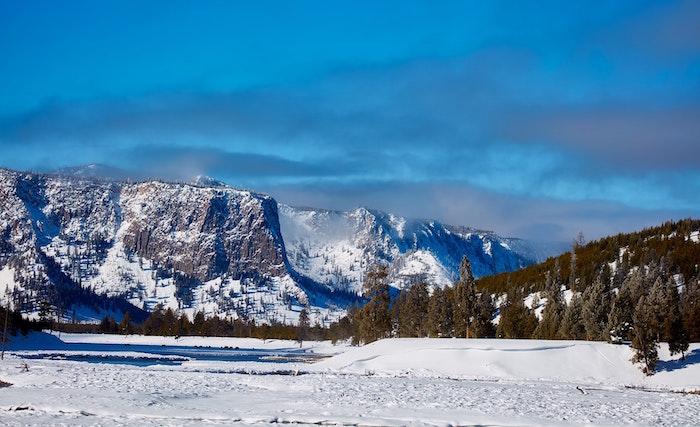 カナダの雪山