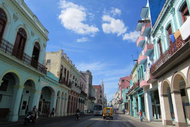ハバナ旧市街の街並み