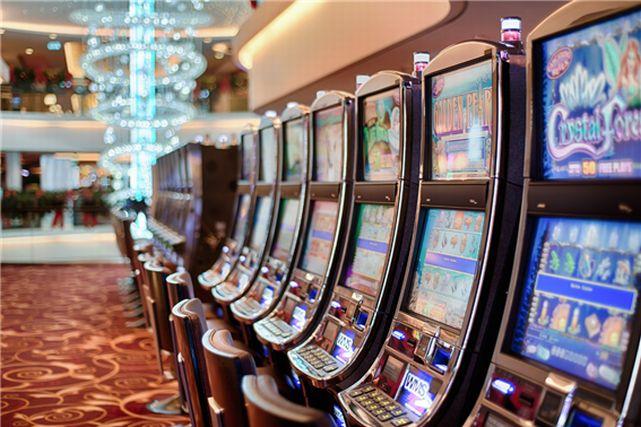 カジノに置かれたスロットマシン