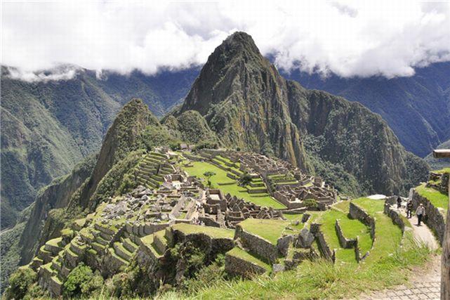ペルーのマチュピチュ遺跡