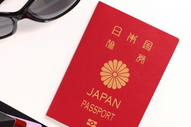 パスポートとサングラス