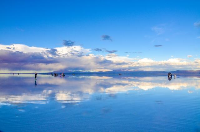 ボリビアのウユニ塩湖の絶景