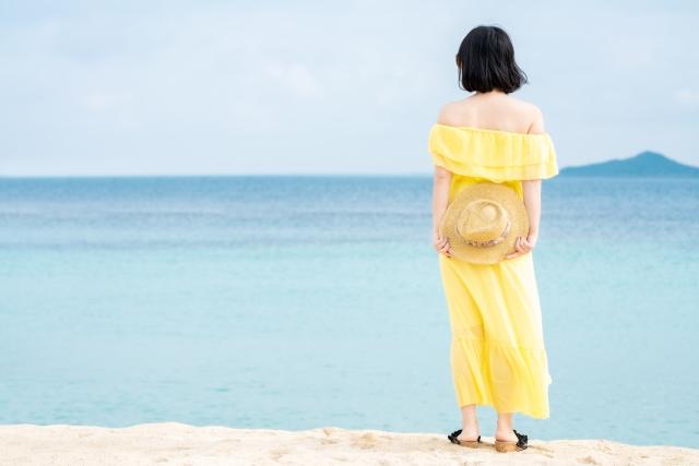海外旅行の洋服ワンピース